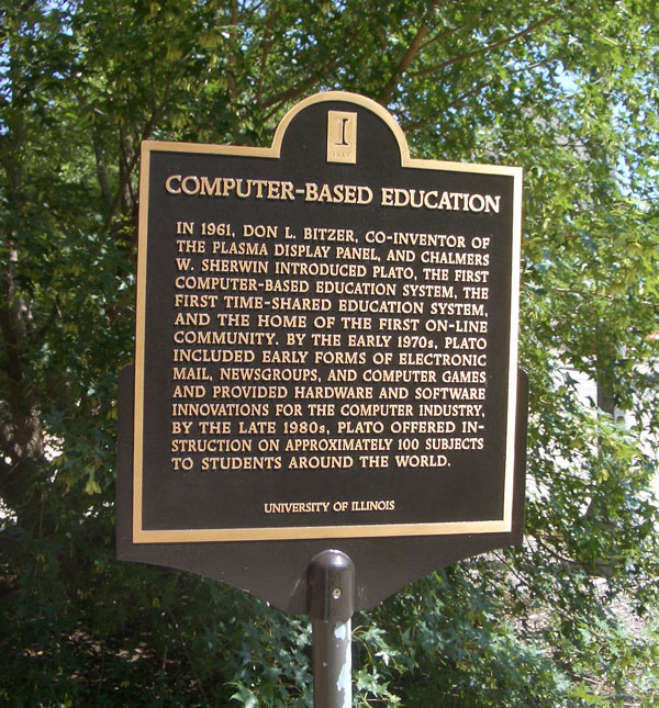 The PLATO Computer-Based Education Plaque