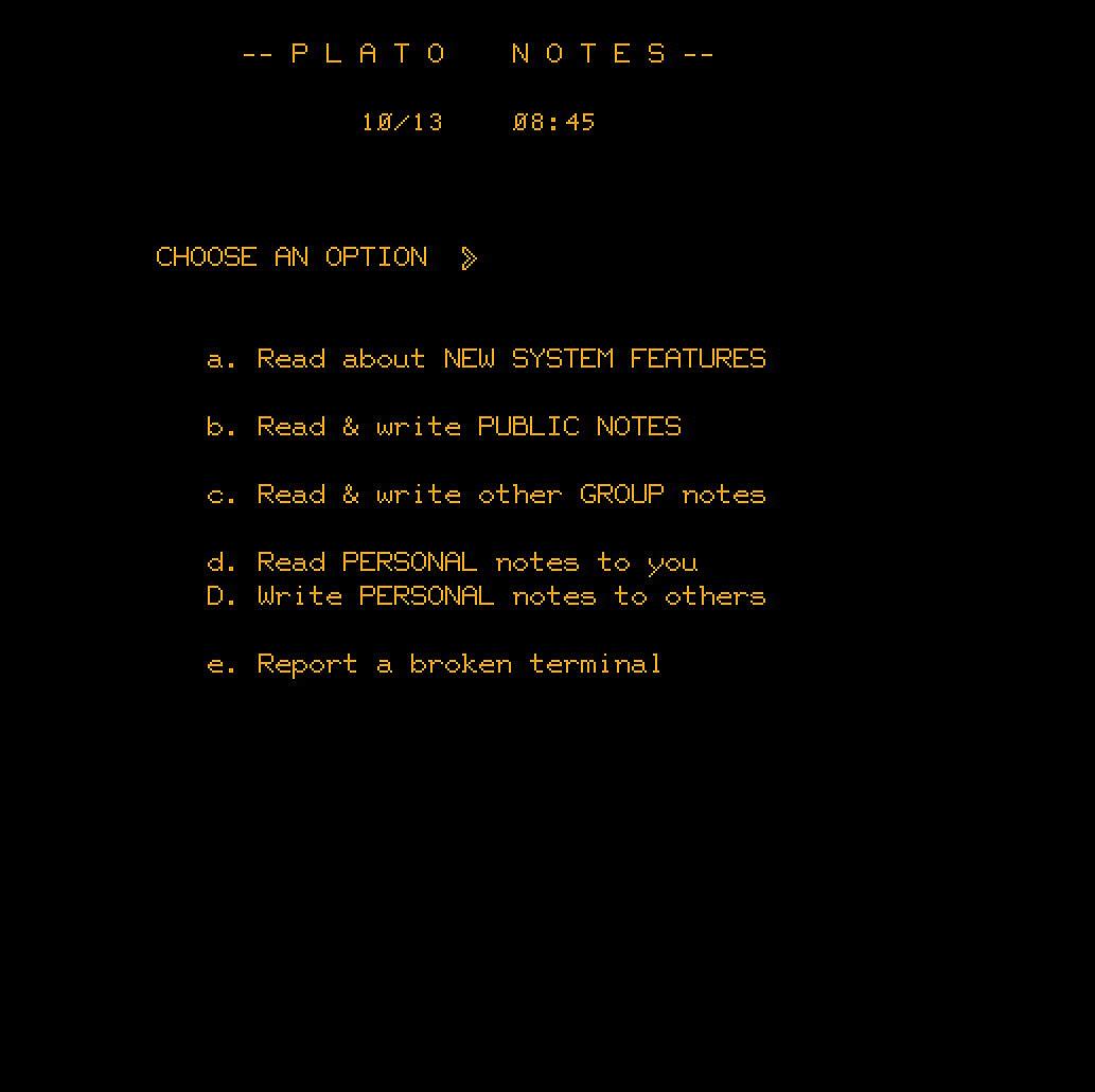 PLATO Notes