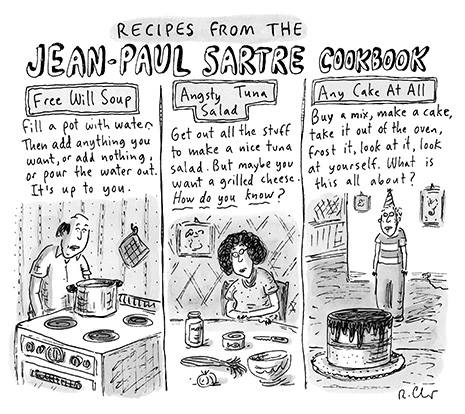 Recipes from the Jean-Paul Sartre Cookbook