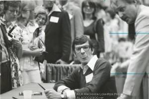 Leonard Nimoy at the 1976 American Library Association Conference in Chicago