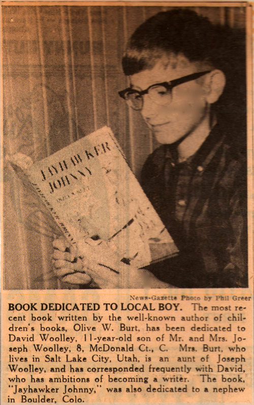 Jayhawker Johnny Newspaper Clipping