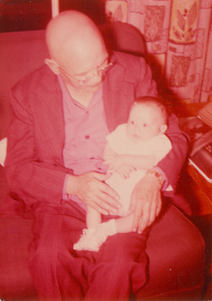 December 1955 with my grandfather Cloyd Woolley