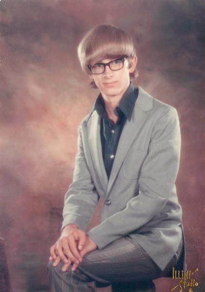 1971 Senior High School Yearbook Photo