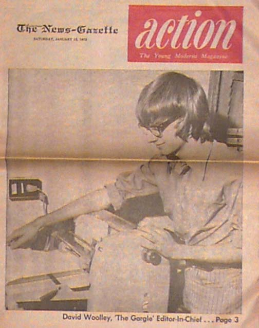 1972: Editor of The Gargle