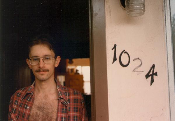 1984, at Pacific Beach apartment, San Diego