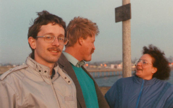 1988, in San Diego with friends Toby & Darrel