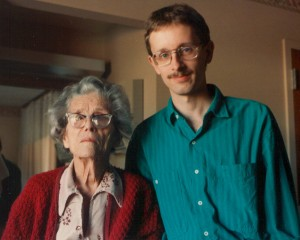 Me with my grandmother Florence Woolley, Denver, circa 1989