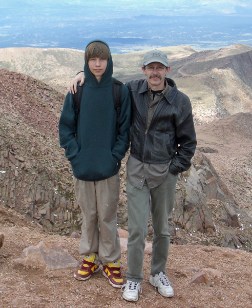 2005 with Ben on Pikes Peak