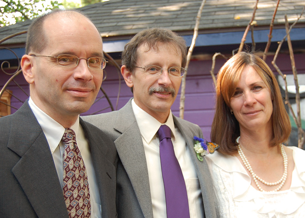 Sept 2009, Wedding to Cyndie, with siblings Bob & Suzi