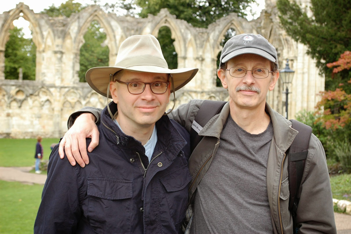 August 2014 with my brother Bob in York, England