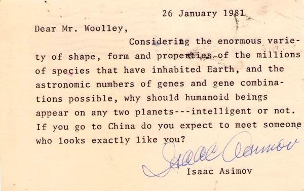 Asimov Postcard