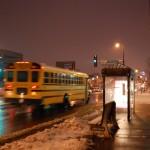School Bus in Motion