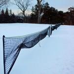 Tennis Nets in Snow