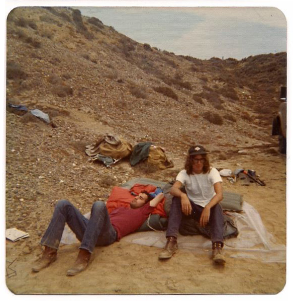 Camping in Baja California, August 1973
