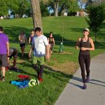 November Project - Gathering after a run in Powderhorn Park