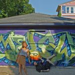 Ben and Creanna with Ben's Garage Art