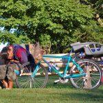 Man, Bike, Bench