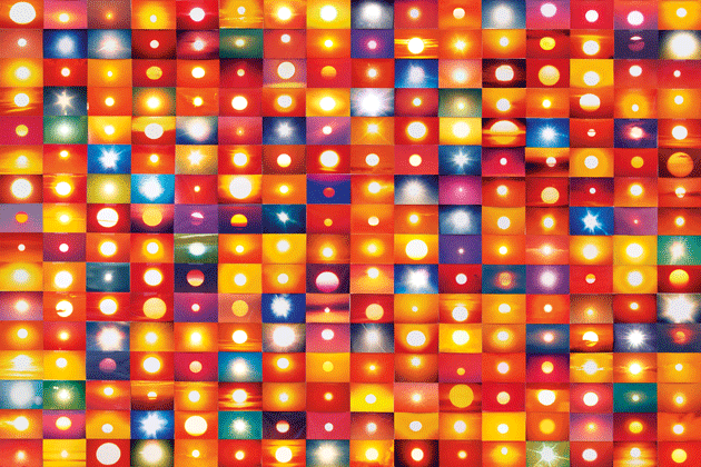 """541795 Suns from Sunsets from Flickr (Partial) 01/26/06"" (detail), by Penelope Umbrico"